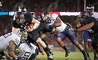 Stanford, California - Saturday, October 5, 2013: The Stanford football team defeated the University of Washington 31-28 at Stanford Stadium. Kevin Hogan scores a touchdown.