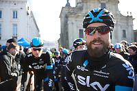 'beardo' Bernie Eisel (AUT/SKY) at the start<br /> <br /> Omloop Het Nieuwsblad 2015