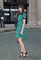 October 3 2017, PARIS FRANCE the Miu Miu<br /> Show at the Paris Fashion Week Spring Summer 2017/2018. Stacy Martin arrives<br /> at the show.