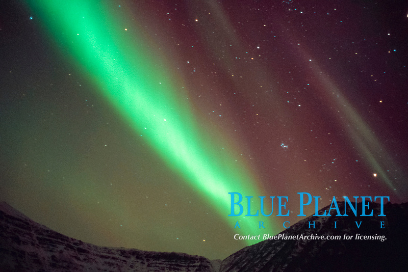 northern lights, aurora borealis, over Brooks Range, Arctic National Wildlife Refuge, Alaska