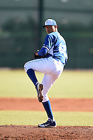 Kansas City Royals pitcher Julio Pinto (68) during an Instructional League game against the Cincinnati Reds on October 16, 2014 at Goodyear Training Facility in Goodyear, Arizona.  (Mike Janes/Four Seam Images)