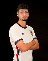 Johnny Cardoso during a portrait studio session for the U23 Olympic Qualifying team 2021.