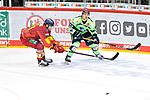 Eishockey DEL 37. Spieltag: Düsseldorfer EG vs <br /> ERC Ingolstadt am 07.04.2021 im ISS Dome in Düsseldorf<br /> <br /> Ingolstadts Petrus Palmu (Nr.52) gegen Düsseldorfs Tobias Eder (Nr.20)<br /> <br /> Foto © PIX-Sportfotos *** Foto ist honorarpflichtig! *** Auf Anfrage in hoeherer Qualitaet/Aufloesung. Belegexemplar erbeten. Veroeffentlichung ausschliesslich fuer journalistisch-publizistische Zwecke. For editorial use only.