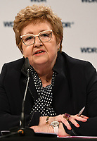 26 April 2018, Germany, Cologne: Former chairman of the union for public services, transport and commerce (ÖTV), Monika Wulf-Mathies, at a press conference about the internal handling regarding indications of sexual harassment at WDR. Wulf-Mathies will investigate how WDR dealt with these indications. Photo: Henning Kaiser/dpa