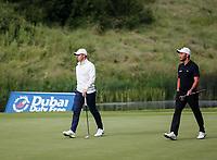 4th July 2021; Mount Juliet Golf Club, Kilkenny, Ireland; Dubai Duty Free Irish Open Golf, Day Four; Rory Mcilroy of Northern Ireland and Maximilian of Germany walk onto the 4th green