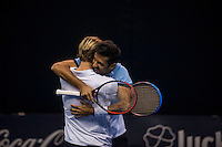 VALENCIA, SPAIN - OCTOBER 28: Oliver Marach and Julian Knowle during Valencia Open Tennis 2015 on October 28, 2015 in Valencia , Spain