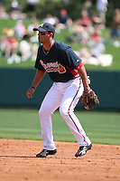 March 23rd 2008:  Martin Prado of the Atlanta Braves during a Spring Training game at Osceola County Stadium in Kissimmee, FL.  Photo by:  Mike Janes/Four Seam Images