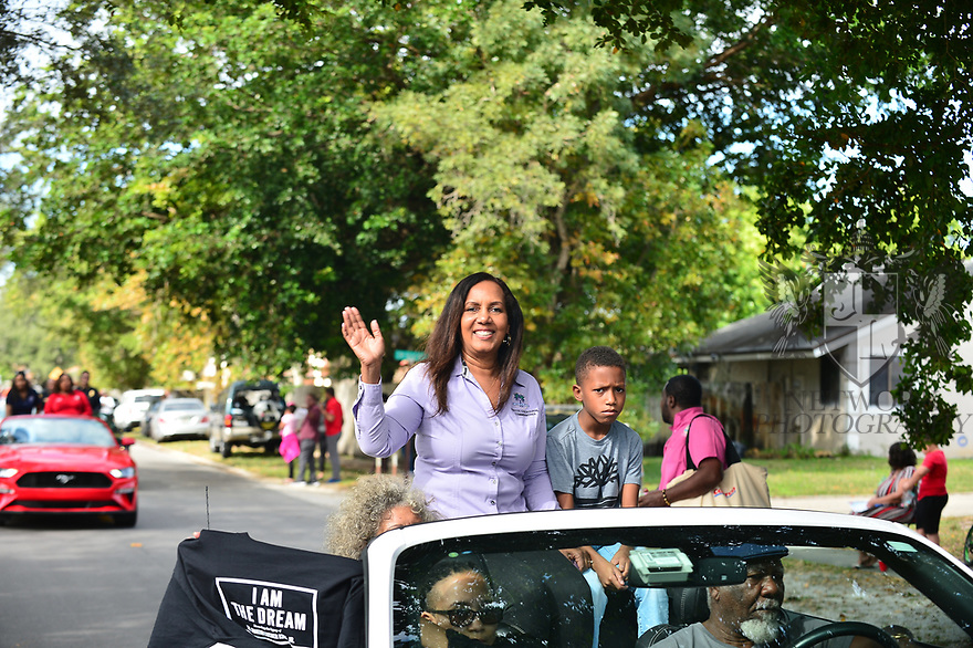MIRAMAR,  FLORIDA - JANUARY 20: City of Miramar Commissioner Yvette Colbourne attends the annual Reverend Dr. Martin Luther King, Jr. Day celebration City Miramar MLK Parades between Sherman Cirrcle and Lakeshore Park on January 20, 2020 in Miramar, Florida.  ( Photo by Johnny Louis / jlnphotography.com )