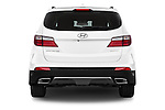 Straight rear view of a 2014 Hyundai Santa Fe GLS 5 Door SUV Rear View  stock images