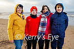 Enjoying a stroll on Derrymore beach on Saturday, L to r: Maudie Moriarty, Ryan, Susanna and Sean Fitzgerald