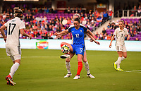 Orlando City, FL - Wednesday March 07, 2018: Gaëtane Thiney during a 2018 SheBelieves Cup match between the women's national teams of Germany (GER) and France (FRA) at Orlando City Stadium.