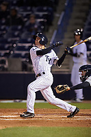 Tampa Yankees second baseman Nick Solak (39) at bat during a game against the Lakeland Flying Tigers on April 7, 2017 at George M. Steinbrenner Field in Tampa, Florida.  Lakeland defeated Tampa 5-0.  (Mike Janes/Four Seam Images)