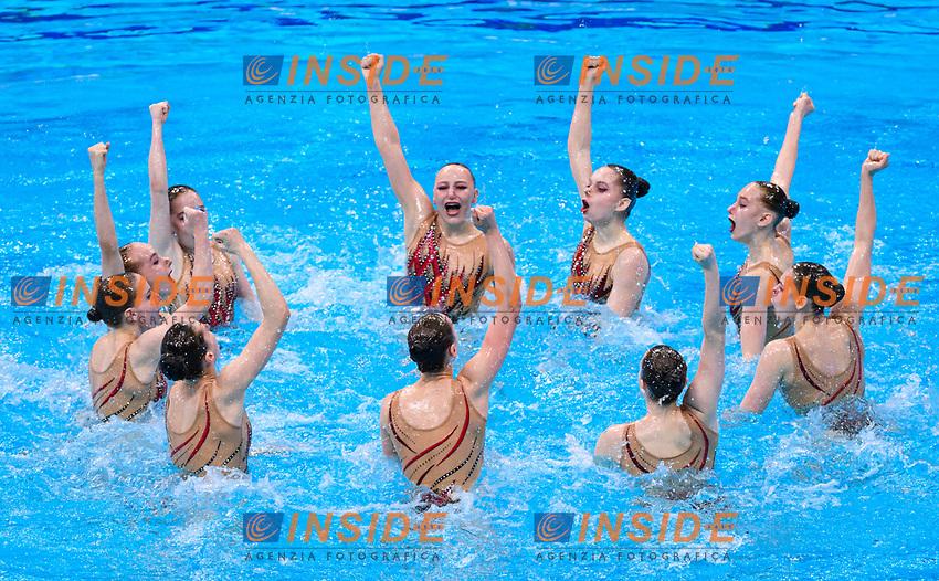 Artistic Swimming<br /> Highlights Routine<br /> Final<br /> BLR BELARUS<br /> BUTSEL Vera<br /> KIRYLIUK Marharyta<br /> KOUTSUN Hanna<br /> KUDZINA Yana<br /> KULIASHOVA Kseniya<br /> NAVASIOLAVA Anastasiya<br /> PUZ Valeryia<br /> SUVALAVA Anastasiya<br /> TRATSEUSKAYA Kseniya<br /> VYSOTSKAYA Aliaksandra<br /> XXXV LEN European Aquatic Championships<br /> Duna Arena<br /> Budapest  - Hungary  11/5/2021<br /> Photo Pasquale Francesco Mesiano / Deepbluemedia / Insidefoto