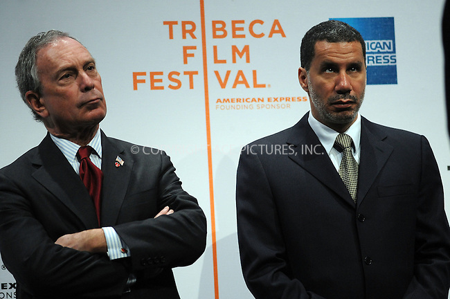 WWW.ACEPIXS.COM . . . . . ....April 23 2008, New York City....Mayor of New York City Michael Bloomberg and Governor of New York David Paterson at the opening press conference for the 2008 Tribeca Film Festival at the BMCC Tribeca PAC in downtown Manhattan....Please byline: KRISTIN CALLAHAN - ACEPIXS.COM.. . . . . . ..Ace Pictures, Inc:  ..(646) 769 0430..e-mail: info@acepixs.com..web: http://www.acepixs.com