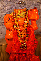 India, Dehradun.  Hanuman, a Hindu Deity in the   Tapkeshwar Hindu Temple.