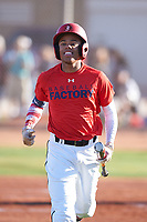 Brendon Gibson (44), from Indianapolis, Indiana, while playing for the Red Sox during the Under Armour Baseball Factory Recruiting Classic at Gene Autry Park on December 30, 2017 in Mesa, Arizona. (Zachary Lucy/Four Seam Images)