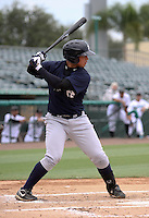 GCL Yankees first baseman Matthew Duran at bat during game three of the GCL Championship Series against the GCL Marlins at Roger Dean Stadium on August 31, 2011 in Jupiter, Florida.  GCL Yankees defeated the GCL Marlins 3-1 to capture the league championship.  (Stacy Grant/Four Seam Images)