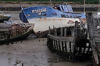 Europe/France/Pays de la Loire/85/Vendée/Ile de Noirmoutier/Noirmoutier-en-l'Ile: Cimetière de bateaux