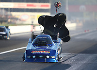 Sep 5, 2020; Clermont, Indiana, United States; NHRA funny car driver Terry Haddock during qualifying for the US Nationals at Lucas Oil Raceway. Mandatory Credit: Mark J. Rebilas-USA TODAY Sports