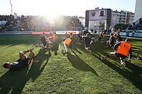 Photo: Richard Lane/Richard Lane Photography. RC Toulon v Wasps.  European Rugby Champions Cup. 17/01/2016. Wasps warm up.