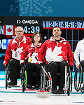 Mark Ideson, Marie Wright, and Dennis Thiessen, PyeongChang 2018 - Wheelchair Curling // Curling en fauteuil roulant.<br /> Canada competes in Wheelchair curling // Le Canada participent au curling en fauteuil roulant. 15/03/2018.