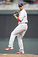 April 2, 2010: Kyle Lohse of the St. Louis Cardinals in the first professional baseball game played at the Minnesota Twins new home, Target Field. Photo by: Chris Proctor/Four Seam Images