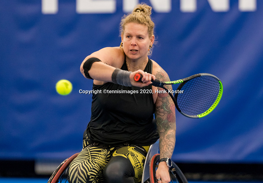 Amstelveen, Netherlands, 12  December, 2020, National Tennis Center, NTC, NKR, National   Indoor Wheelchair Tennis Championships, Women's single Final :   Michaela Spaanstra (NED)<br /> Photo: Henk Koster/tennisimages.com