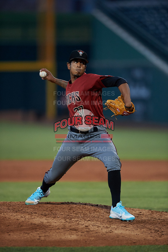AZL Dbacks relief pitcher Jonathan Stroman (37) during an Arizona League game against the AZL Cubs 2 on June 25, 2019 at Sloan Park in Mesa, Arizona. AZL Cubs 2 defeated the AZL Dbacks 4-0. (Zachary Lucy/Four Seam Images)