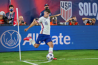 5th September 2021; Nashville, TN, USA;  United States forward Christian Pulisic takes a corner kick during a CONCACAF World Cup qualifying match between the United States and Canada on September 5, 2021 at Nissan Stadium in Nashville, TN.