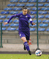 Laura De Neve (8 Anderlecht) with the ball during a female soccer game between FC Femina WS Woluwe and RSC Anderlecht Women on the eight match day of the 2020 - 2021 season of Belgian Women's Super League , Sunday 22nd of November 2020  in Woluwe, Belgium . PHOTO SPORTPIX.BE | SPP | SEVIL OKTEM