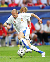 Jiri Stajner pushes forward for the Czech Republic. The Czech Republic defeated the USA 3-0 in their FIFA World Cup Group E match at FIFA World Cup Stadium, Gelsenkirchen, Germany, June 12, 2006.