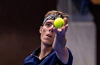 Alphen aan den Rijn, Netherlands, December 16, 2018, Tennispark Nieuwe Sloot, Ned. Loterij NK Tennis, Final men: Scott Griekspoor (NED)<br /> Photo: Tennisimages/Henk Koster