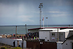 Arbroath 0 Edinburgh City 1, 15/03/2017. Gayfield Park, SPFL League 2. Fans watching the first-half action at Gayfield Park as Arbroath hosted Edinburgh City (in yellow) in an SPFL League 2 fixture. The newly-promoted side from the Capital were looking to secure their place in SPFL League 2 after promotion from the Lowland League the previous season. They won the match 1-0 with an injury time goal watched by 775 spectators to keep them 4 points clear of bottom spot with three further games to play. Photo by Colin McPherson.