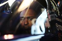 Oct. 16, 2011; Chandler, AZ, USA; NHRA top fuel dragster driver Antron Brown during the Arizona Nationals at Firebird International Raceway. Mandatory Credit: Mark J. Rebilas-