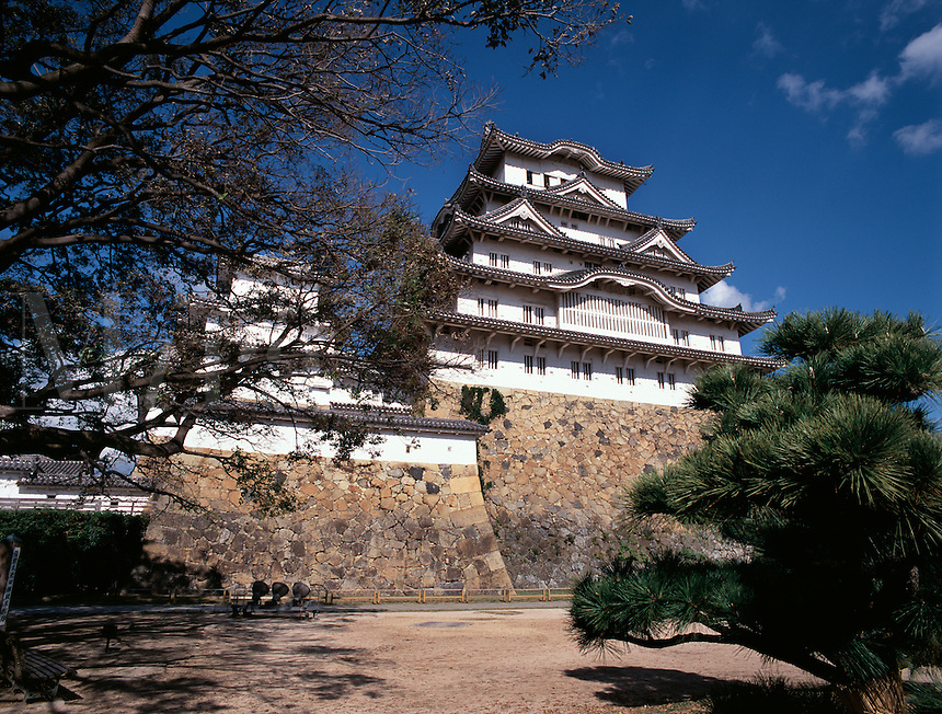 The main frontage of the medieval fortress of Himeji Castle, Himeji, Japa