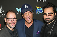 WEST HOLLYWOOD, CA - SEPTEMBER 13: Danny A. Abeckaser, Robert Davi, Lionel Cohen, at the LA Premiere Screening Of I Love Us at Harmony Gold in West Hollywood, California on September 13, 2021. Credit: Faye Sadou/MediaPunch