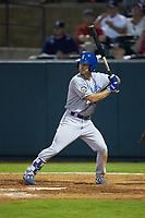 Jack Gethings (49) of the Burlington Royals at bat against the Pulaski Yankees at Calfee Park on August 31, 2019 in Pulaski, Virginia. The Yankees defeated the Royals 6-0. (Brian Westerholt/Four Seam Images)