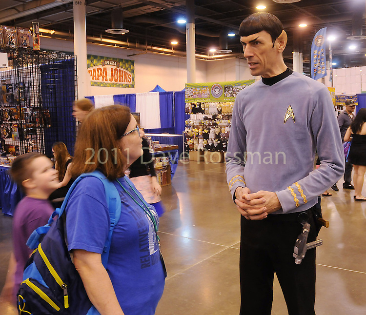 Angela Waguespack talks with Spock Vegas at Space City Comic Con at NRG Center Saturday May 28,2016(Dave Rossman Photo)