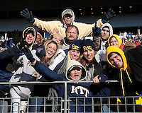 Pitt fans. The WVU Mountaineers defeated the Pitt Panthers 35-10 at Heinz Field, Pittsburgh, Pennsylvania on November 26, 2010.