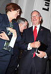 City Council Speaker Christine Quinn and Mayor Michael Bloomberg attending the Unveiling of the Revitalized Public Theater at Astor Place in New York City on 10/4/2012.