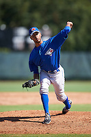 Toronto Blue Jays pitcher Kelyn Jose (83) during an Instructional League game against the Philadelphia Phillies on October 1, 2016 at the Carpenter Complex in Clearwater, Florida.  (Mike Janes/Four Seam Images)