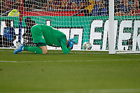 Wayne Hennessey of Crystal Palace sees the ball past him from the shoot out during the Carabao Cup 2nd round match between Crystal Palace and Colchester United at Selhurst Park, London, England on 27 August 2019. Photo by Carlton Myrie / PRiME Media Images.