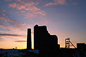 Magpie Mine, an abandoned lead mine, photographed at sunrise. Peak District National Park, Derbyshire, UK. March.