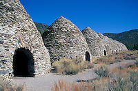 Death Valley National Park, California, CA, USA - Wildrose Charcoal Kilns (built in 1867) in Wildrose Canyon, in the Panamint Mountains