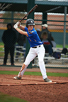 William (Billy) Biers (1) of Highland High School in Palmdale, California during the Under Armour All-American Pre-Season Tournament presented by Baseball Factory on January 15, 2017 at Sloan Park in Mesa, Arizona.  (Art Foxall/MJP/Four Seam Images)
