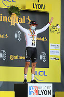 12th September 2020; Lyon, France;  TOUR DE FRANCE 2020- UCI Cycling World Tour during covid-19 pandemic. Stage 14 from Clermont-Ferrand to Lyon on the 12th of September. Soren Kragh Andersen Denmark Team Sunweb