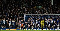 Newcastle United players celebrate their equalising goal<br /> <br /> Photographer Alex Dodd/CameraSport<br /> <br /> The Premier League - Everton v Newcastle United  - Tuesday 21st January 2020 - Goodison Park - Liverpool<br /> <br /> World Copyright © 2020 CameraSport. All rights reserved. 43 Linden Ave. Countesthorpe. Leicester. England. LE8 5PG - Tel: +44 (0) 116 277 4147 - admin@camerasport.com - www.camerasport.com