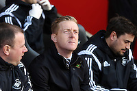 Pictured: Swansea manager Garry Monk Sunday 01 February 2015<br />
