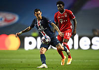 23rd August 2020, Estádio da Luz, Lison, Portugal; UEFA Champions League final, Paris St Germain versus Bayern Munich; Angel Di Maria of Paris Saint-Germain looks to pass the ball