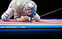 210728 -- CHIBA, July 28, 2021 -- Luca Curatoli of Italy celebrates during the fencing men s sabre team semifinal between Hungary and Italy at the Tokyo 2020 Olympic Games, Olympische Spiele, Olympia, OS in Chiba, Japan, on July 28, 2021.  TOKYO2020JAPAN-CHIBA-OLYMPICS-FENCING-MEN S SABRE TEAM-SEMIFINAL LixMing PUBLICATIONxNOTxINxCHN <br /> Photo Imago  / Insidefoto ITALY ONLY